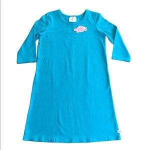 New! Lolly Wolly Doodle Teal Solid Sheath Dress